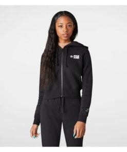 Hanorac femei Converse All Star Fleece Full Zip Womens Hoodie 10018309-001