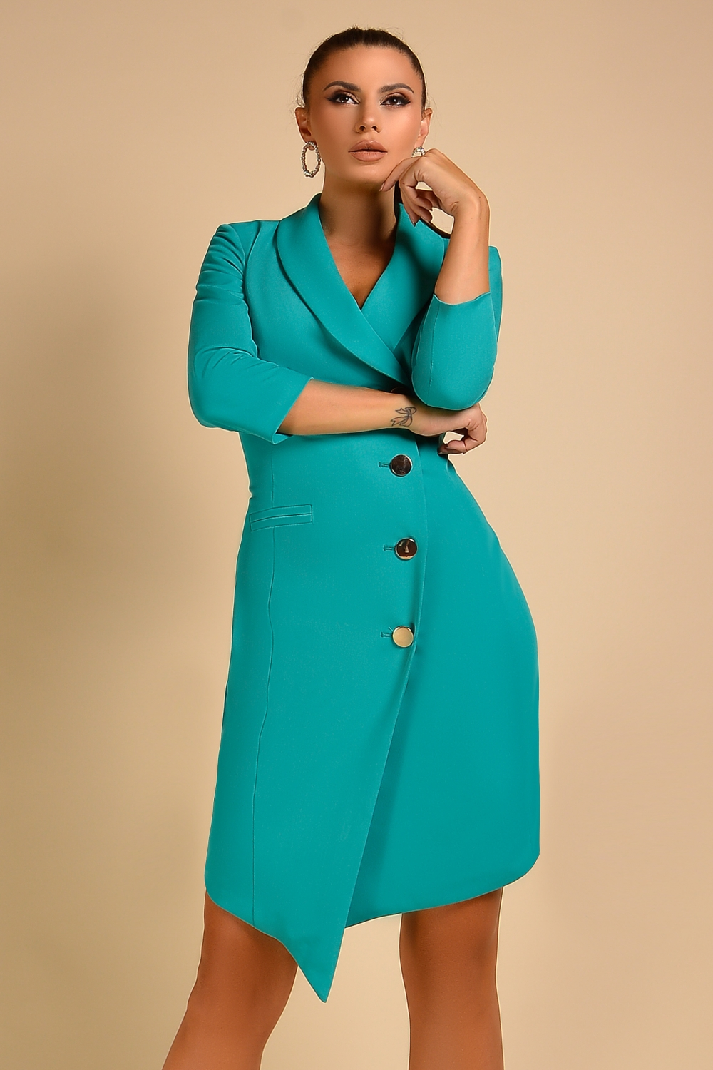Sacou-rochie turquoise Rn 2110