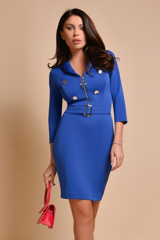 Sarafan elegant albastru Rn 2566
