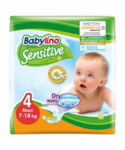 Scutece Babylino Sensitive 4 Maxi, 7-18 kg, 20 buc.