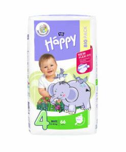 Scutece Happy Maxi, 8-18 kg, 66 bucati