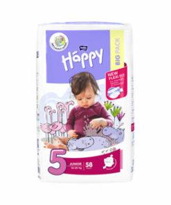 Scutece Happy Junior, 12-25 kg, 58 buc