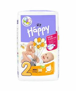 Scutece Happy Mini, 3-6 kg, 38 buc