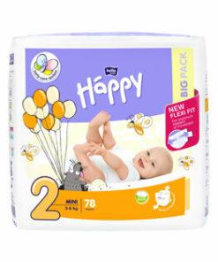 Scutece Happy Mini, 3-6 kg, 78 buc