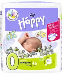 Scutece Happy Before New Born, 0-2 kg, 46 bucati
