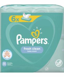 Servetele umede Pampers Baby Fresh Clean, 6 x 52 buc, 312 buc