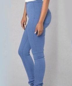 Pantaloni Teale Albastri