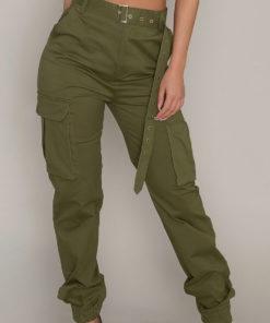 Pantaloni Danasha Verzi