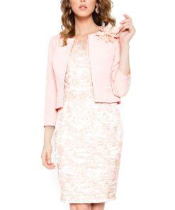 Costum cu rochie 9388 roz