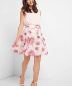 Fustă cu imprimeu floral Rózsaszín