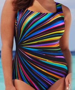 Costum De Baie Marimi Mari Zinia Multicolorat