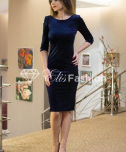 Rochie Majestic Velvet Saphire