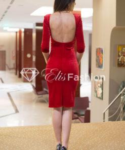 Rochie Majestic Velvet Rubin