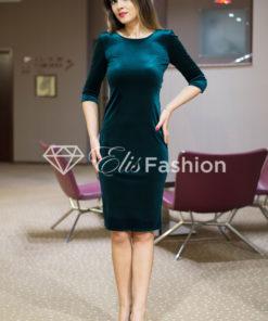 Rochie Majestic Velvet Emerald