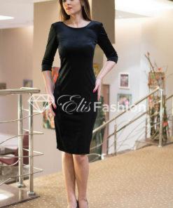 Rochie Majestic Velvet Black Diamond