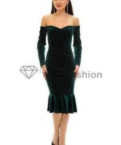 Rochie Velvet Diva Green