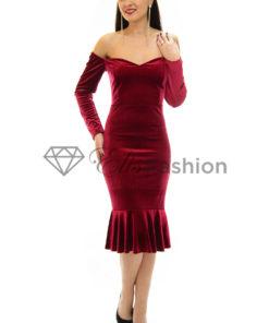 Rochie Velvet Diva Red