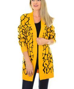 Cardigan Leopard Dream Mustard