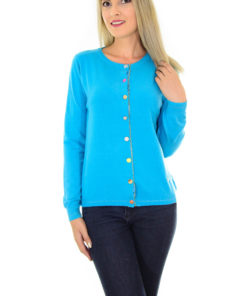 Cardigan Funny Buttons Blue