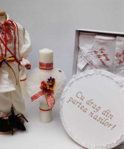 Set Botez Traditional Raul 18 - 4 piese - 0-3 luni