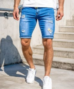 Pantaloni scurți de blugi bleumarin Bolf KG3809