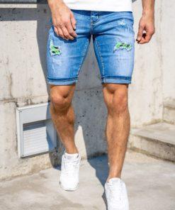 Pantaloni scurți de blugi bleumarin Bolf KG3810