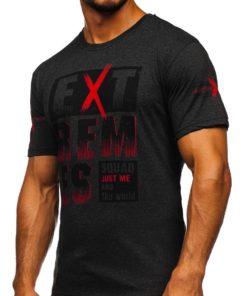 Tricou gri cu imprimeu bărbati Bolf 14312