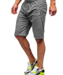 Pantaloni scurți de trening grafit Bolf JX369