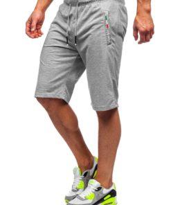 Pantaloni scurți de trening gri Bolf JX369