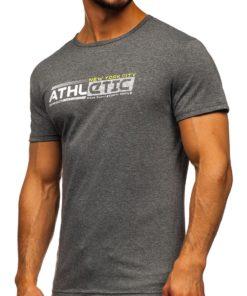 Tricou cu imprimeu gri bărbați Bolf SS10951