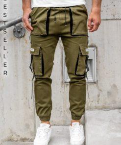 Pantaloni cargo kaki bărbati Bolf KA1911