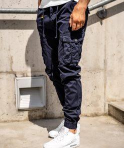 Pantaloni cargo joggers bleumarin bărbați Bolf CT6703
