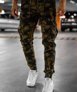 Pantaloni cargo maro bărbați Bolf CT6017