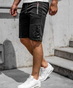 Pantaloni scurți negri bărbați Bolf JX353