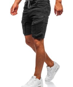 Pantaloni scurți negri Bolf KGP3690