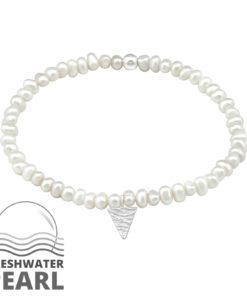 Bratara din perle naturale cu pandantiv triunghi din argint model DiAmanti DIA33146