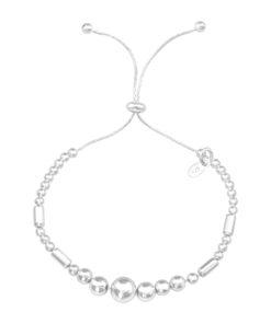 Bratara reglabila din argint model geometric cu bile DiAmanti DIA39610