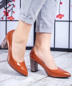 Pantofi cu toc dama maro Calsea-rl