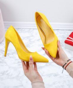 Pantofi dama cu toc galbeni Ianida-rl