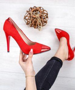 Pantofi dama cu toc rosii Dadana-rl