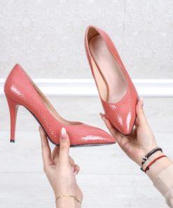 Pantofi dama cu toc roz Danasia-rl