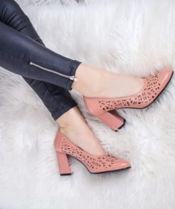 Pantofi dama cu toc roz Kanina-rl