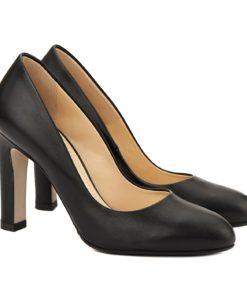 Pantofi dama stiletto din piele neagra 4063