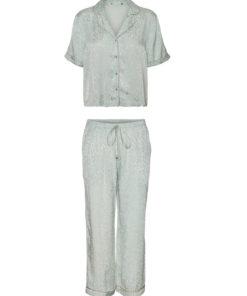Pijama cu aspect de satin 2968299