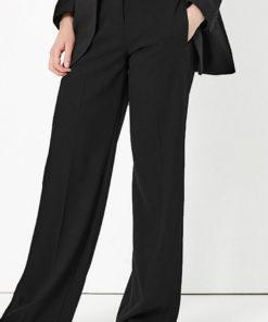 Pantaloni cu croiala ampla si talie inalta 2521846