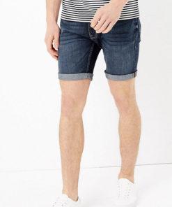 Pantaloni scurti slim fit elastici din denim 2521379