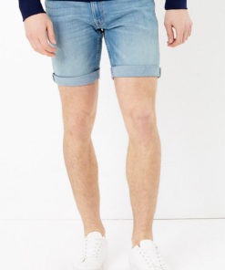 Pantaloni scurti slim fit elastici din denim 2714703