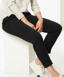 Pantaloni conici cu talie cu snur de ajustare 2714987