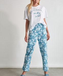 Pijama cu imprimeu grafic 2991751
