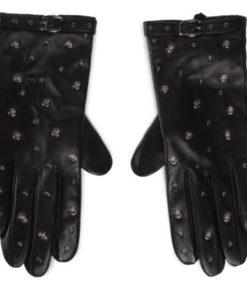 Mănuși Lasocki 2W6-001-AW20 piele netedă - NEGRU